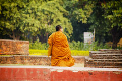 Pilgrims visit the birthplace of Buddha Royalty Free Stock Images