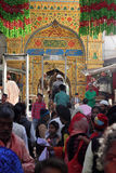 Pilgrims visit the sufi shrine Dargah Sherif  in Ajmer, Rajasthan Stock Image