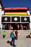 Pilgrims Visiting Drepung Monastery Royalty Free Stock Images