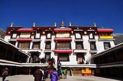 Pilgrims Visiting Drepung Monastery Royalty Free Stock Images