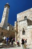 Pilgrims visiting Holy Sepulchre temple,Jerusalem Stock Photos