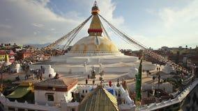 Boudhanath Stupa timelapse, Kathmandu stock video footage