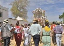 Pilgrims walking Royalty Free Stock Photography