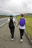 Pilgrims walking to Aparecida-SP (Brazil) Stock Photography