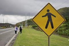 Pilgrims walking to Aparecida-SP (Brazil) Royalty Free Stock Photo