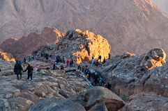 Pilgrims way down from the Holy Mount Sinai, Egypt Stock Photos
