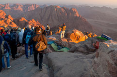 Pilgrims way down from the Holy Mount Sinai, Egypt Royalty Free Stock Photography