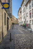 Pilgrims on the Way of St. James in Logroño. Spain. Royalty Free Stock Photography