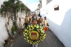 Pilgrimsfärd av den nationella hjälten Royaltyfri Foto