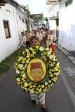 Pilgrimsfärd av den nationella hjälten Royaltyfria Bilder