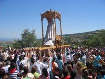 Pilgrimsfärddag på Andalusia, Spanien royaltyfri fotografi