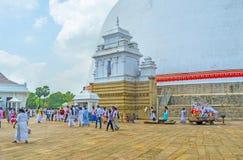Pilgrimsfärden till Anuradhapura Royaltyfri Foto