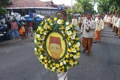 Pilgrimsfärd av den nationella hjälten Arkivfoton