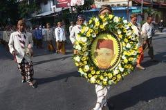 Pilgrimsfärd av den nationella hjälten Fotografering för Bildbyråer