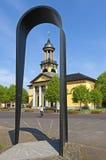Pilgrimsfärdmonumentet och vallfärdar kyrkliga Jacobskerk Arkivfoton