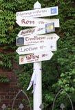 Pilgrimways in Europa, kennzeichnen innen Hamburg Lizenzfreie Stockfotografie
