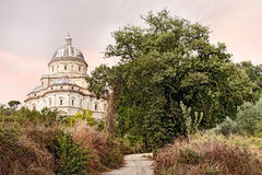 The pilgrinage church Santa Maria della Consolazione in Todi, Um royalty free stock photo