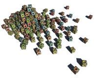 pilha 3d de woofer cúbico do sistema de som Fotografia de Stock Royalty Free