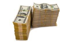 Pilha americana do dólar foto de stock