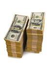 Pilha americana do dólar foto de stock royalty free