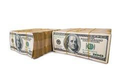 Pilha americana do dólar fotos de stock