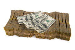 Pilha americana do dólar imagens de stock royalty free