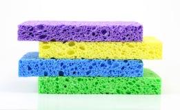 Pilha colorida da esponja Imagem de Stock