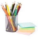 Pilha colorida das etiquetas com pastéis Imagem de Stock Royalty Free