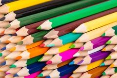 Pilha colorida dos lápis Fotografia de Stock