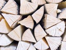 Pilha com madeira do incêndio fotos de stock royalty free