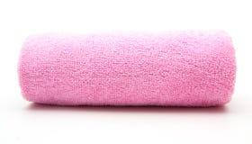 Pilha cor-de-rosa de toalhas coloridas arco-íris Imagem de Stock Royalty Free