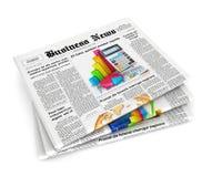 pilha 3d de jornais Fotografia de Stock Royalty Free