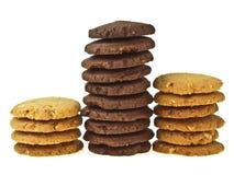 A pilha da cookie compara Imagens de Stock Royalty Free