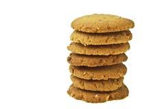 Pilha da cookie de amêndoa imagens de stock