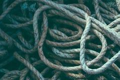 Pilha da corda do pescador Fotografia de Stock