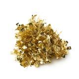 Pilha da festão do ouropel isolada Imagens de Stock