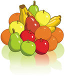 Pilha da fruta Ilustração Royalty Free