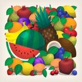 Pilha da fruta Foto de Stock Royalty Free
