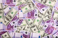 Pilha da imagem das notas de banco Imagem de Stock