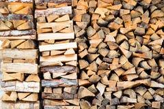 Pilha da lenha Imagens de Stock