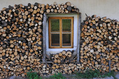 Pilha da madeira Imagens de Stock Royalty Free