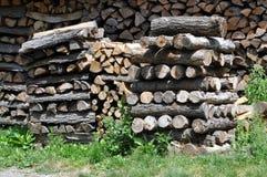 Pilha da madeira foto de stock