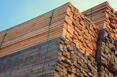 Pilha da madeira Imagem de Stock