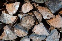 Pilha da madeira cortada Imagens de Stock Royalty Free
