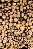 Pilha da madeira desbastada fotografia de stock
