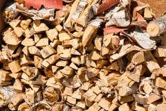 Pilha da madeira do incêndio Fotografia de Stock