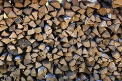 Pilha da madeira do incêndio Fotos de Stock Royalty Free