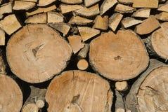 Pilha da madeira do registro Foto de Stock Royalty Free