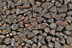 Pilha da madeira empilhada Imagem de Stock Royalty Free