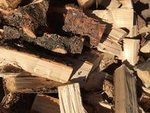 Pilha da madeira fresca do corte Fotografia de Stock